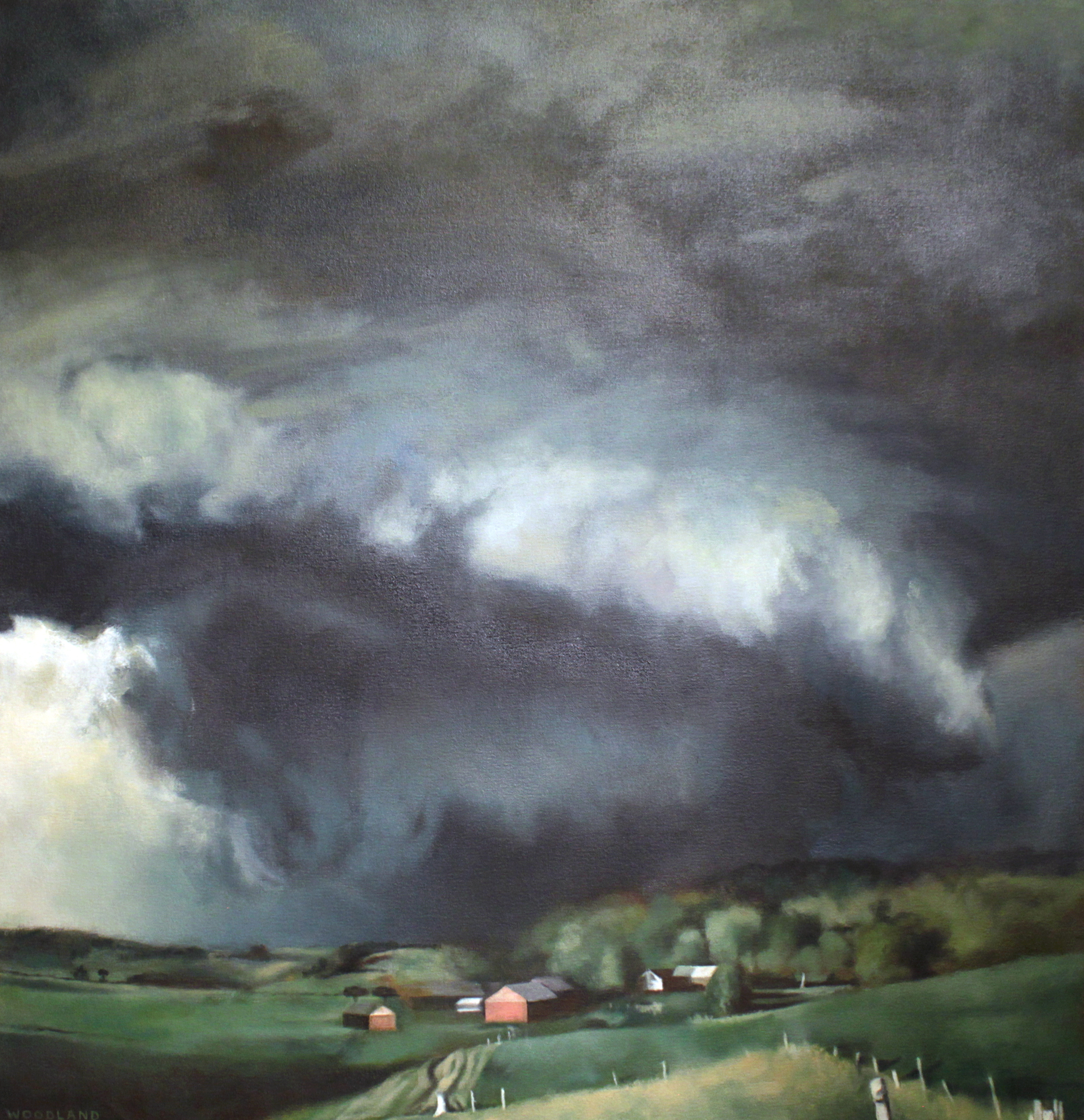 "Severe Storm, Oil on Canvas, 2011, 36"" x 36"" SOLD."