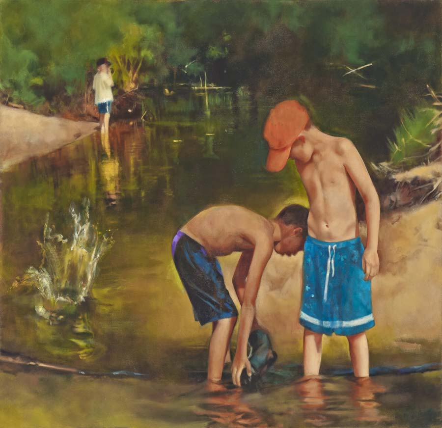 "Lester Creek, oil on canvas, 2012, 48"" x 42"""