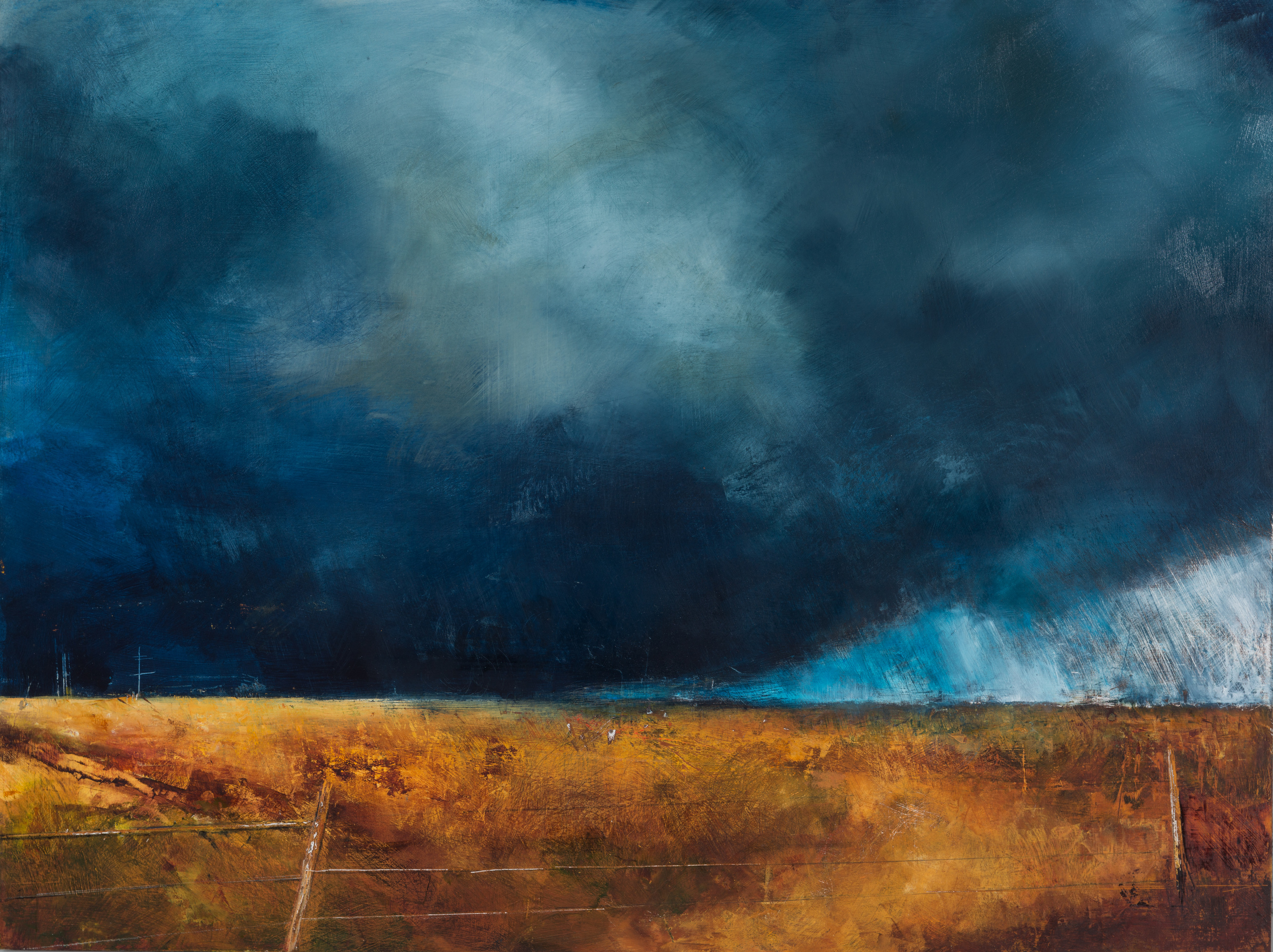 BW-043, Prairie:Extreme Weather, 2014, oil on wood panel, 24x18.jpg