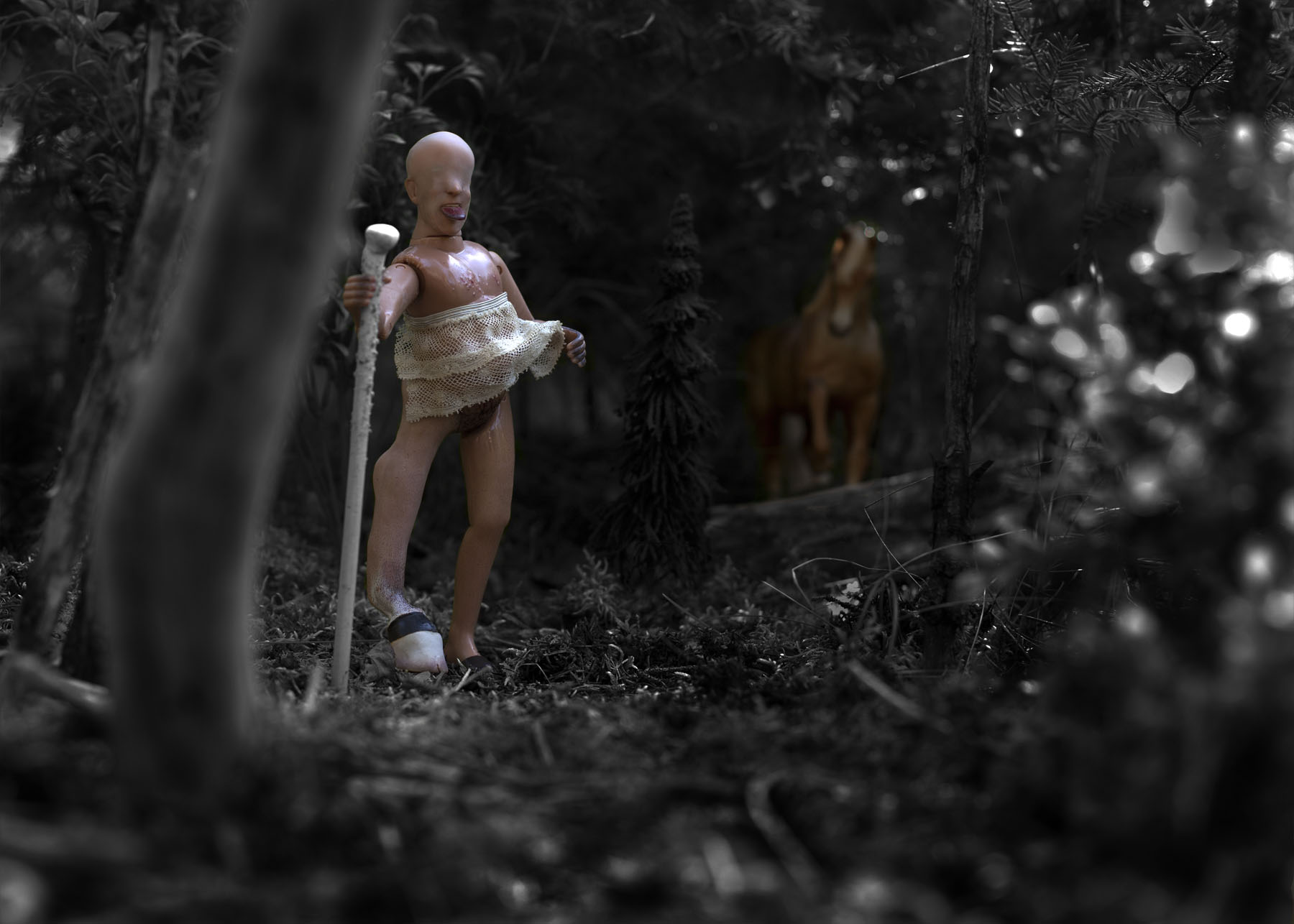 "Centaur Herdsman (old man), 2014, Digital Inkjet Photograph, 28"" x 20"""