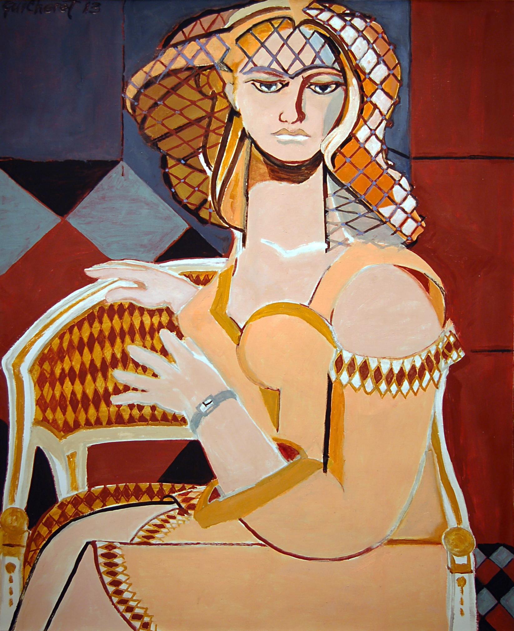 Woman with Venetian Net