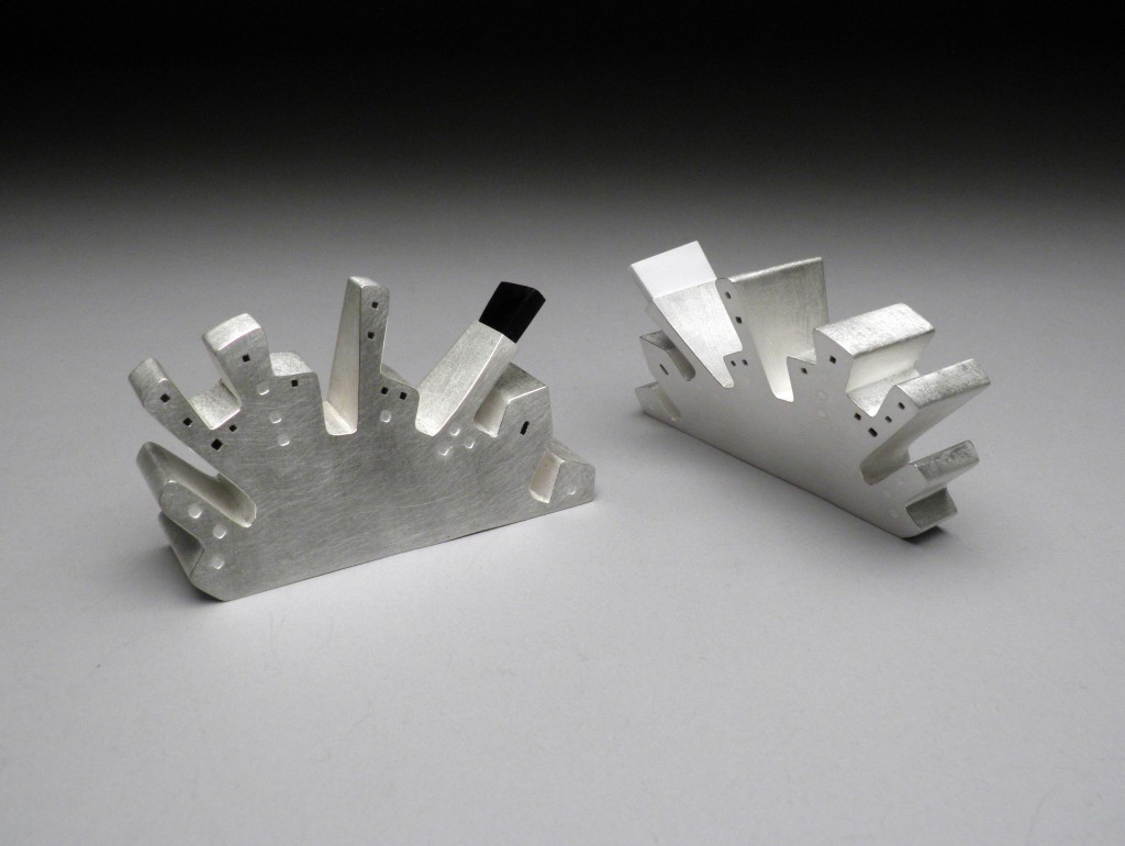Sonja Rosenberg, Skyline, Sterling Silver, hand forged and fabricated
