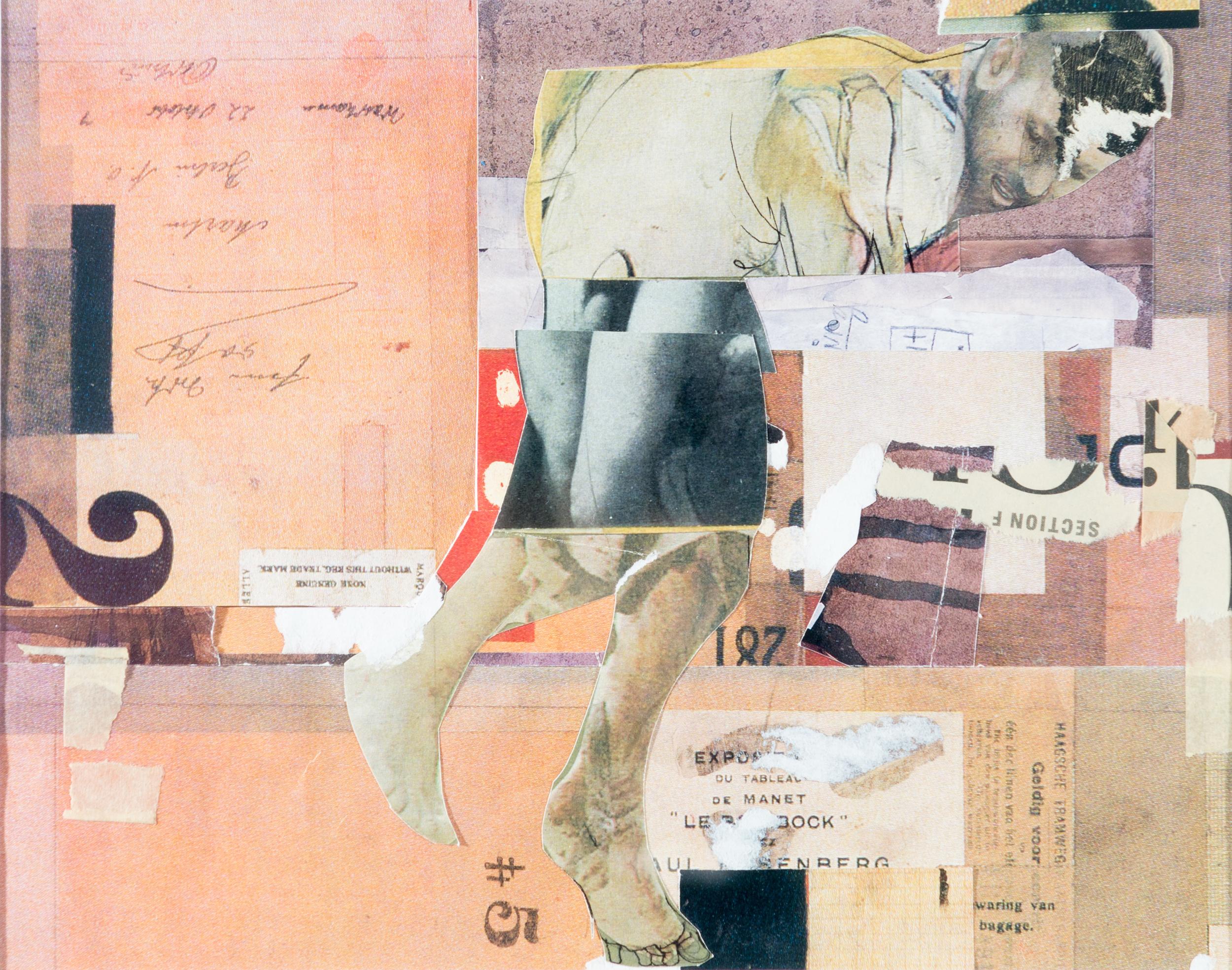 TL-045, Self portrait flying backwards, coloured pencil and ink on toned paper, 16.75 x 12.75 (framed), 2015, $375