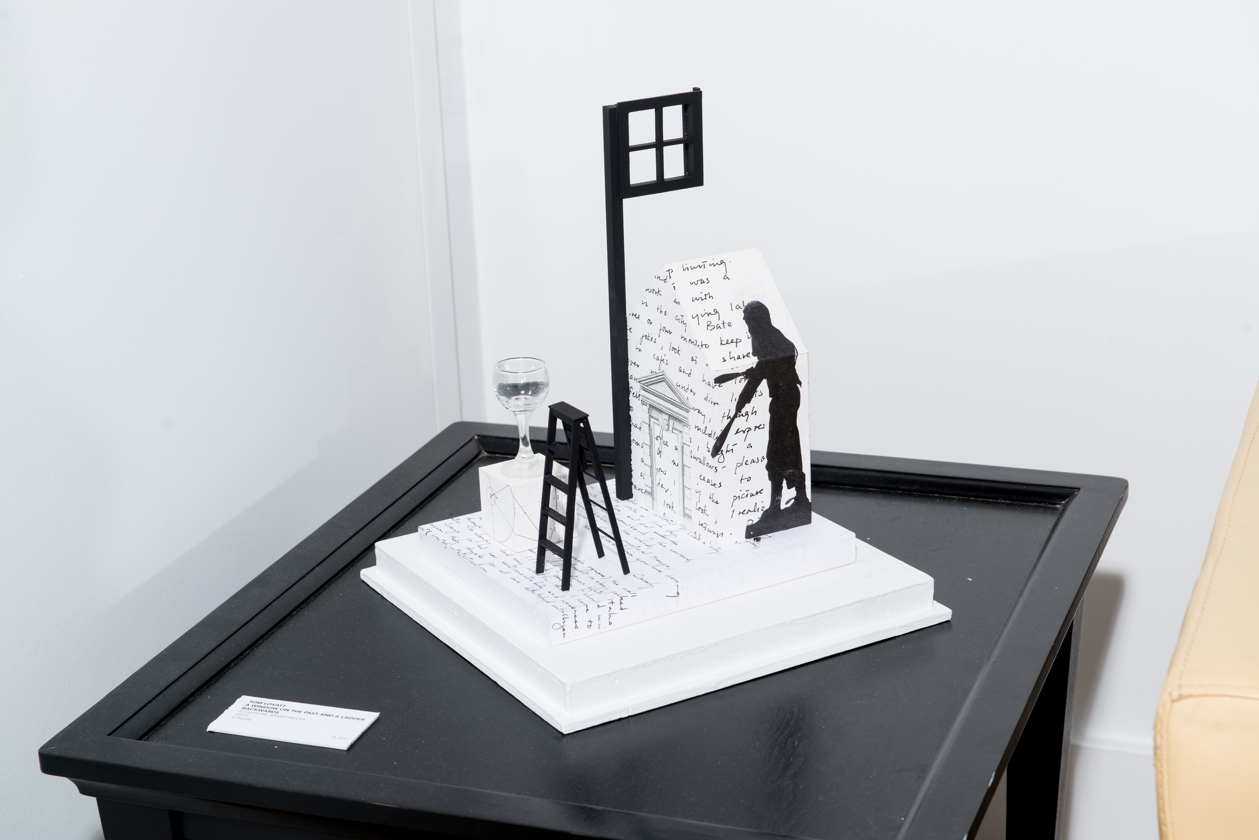 TL-070, A window on the past and a ladder backwards, sculpture, mixed media, 2015, $2,750