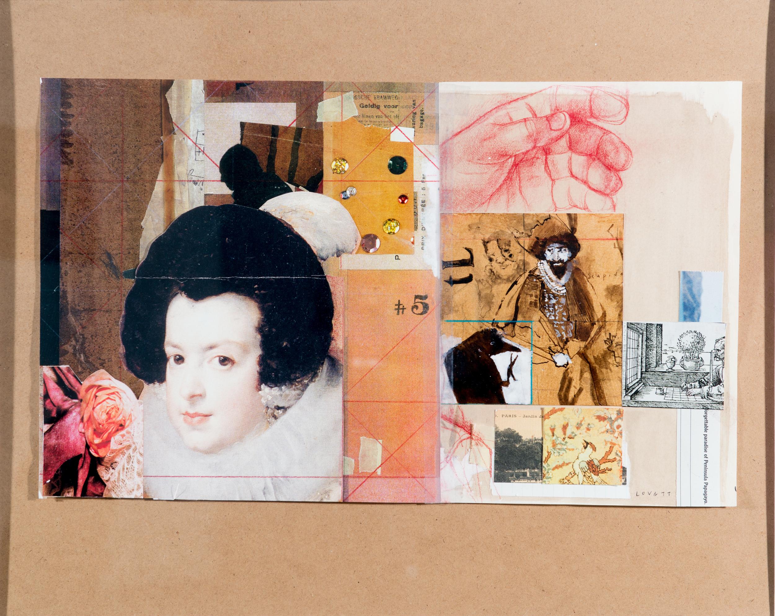TL-055,Commedia del arte, 20.625 x 20.625, $525