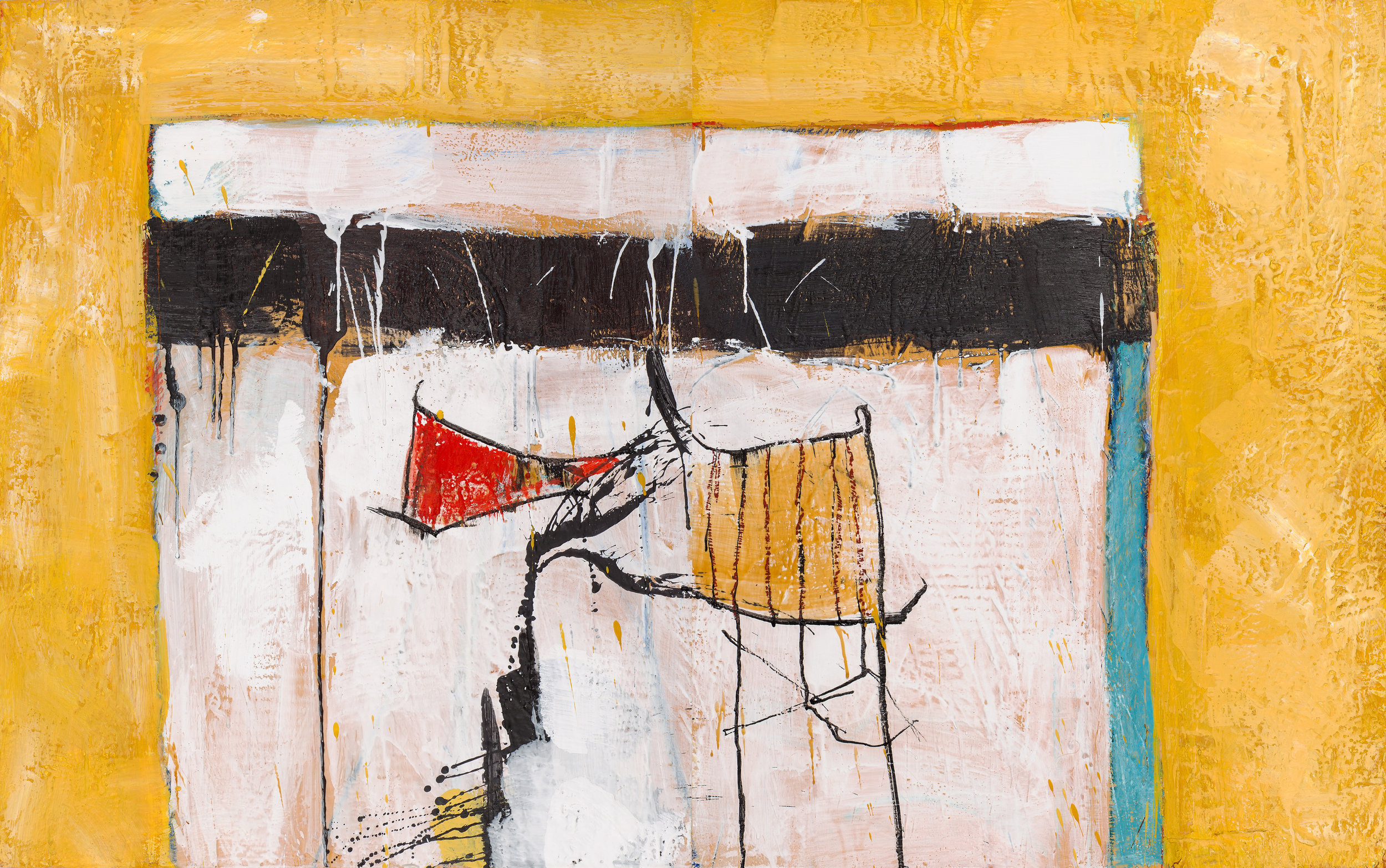 KW-067, Keith Wood, This Time 7, 2015, Encaustic on Panel, 48 x 30, $2,750