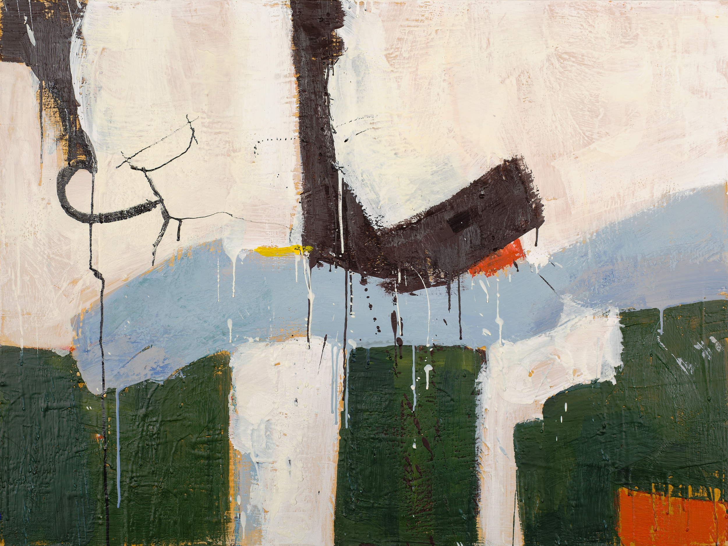 KW-068, Keith Wood, This Time 8, 2015, Encaustic on Panel, 40 x 30, $2,750