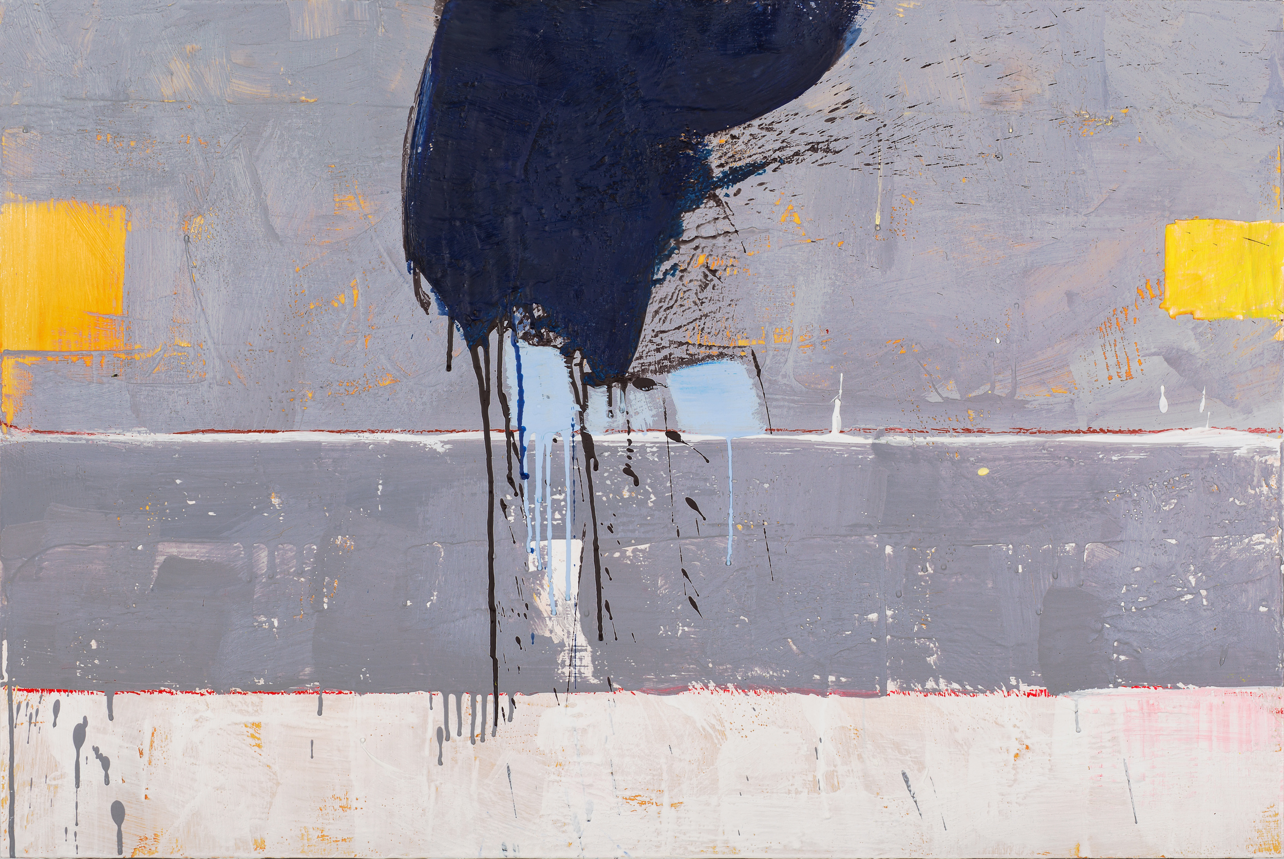 KW-072, Keith Wood, This Time 12, 2015, Encaustic on Panel, 36 x 24, $1,650