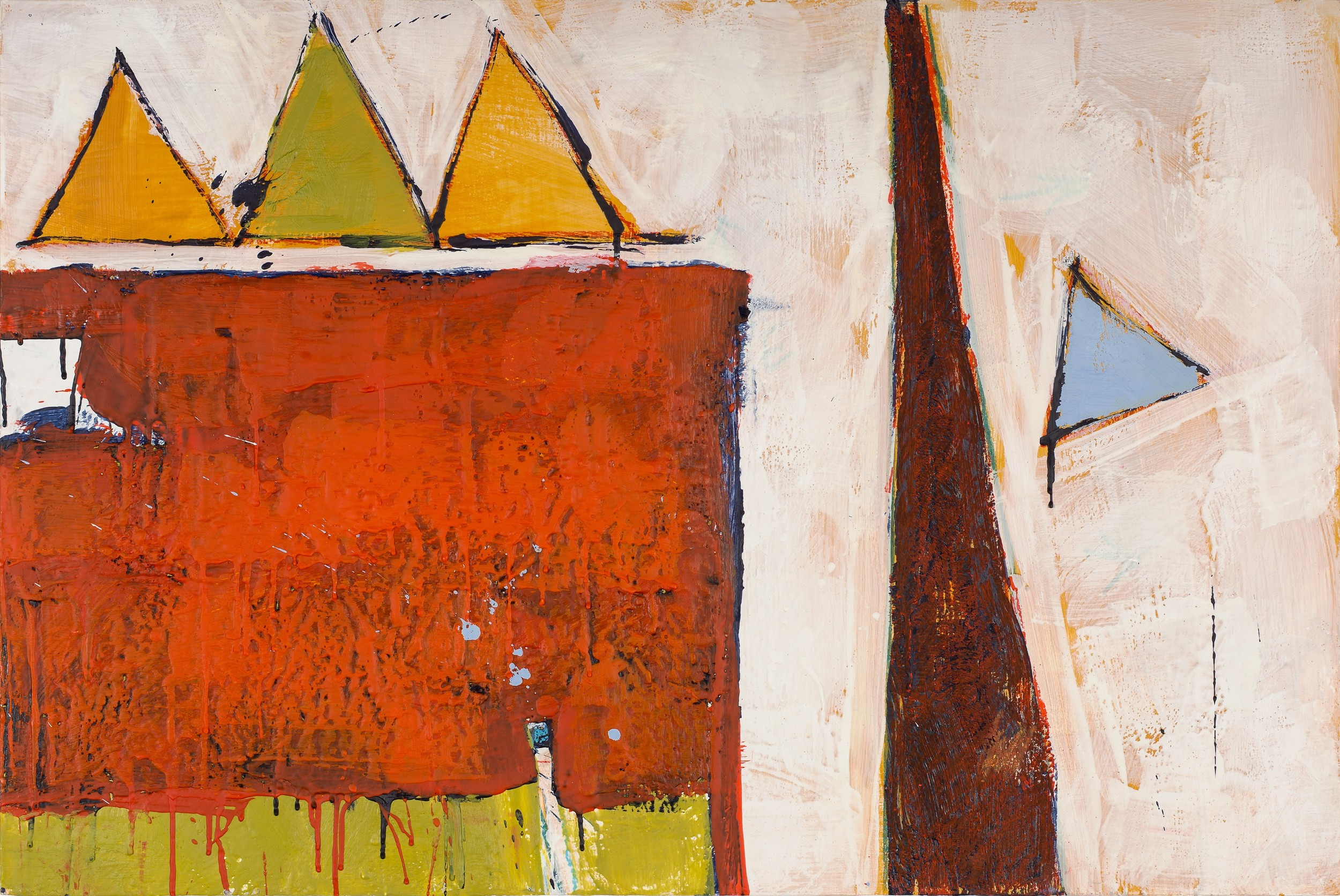 KW-073, Keith Wood, This Time 13, 2015, Encaustic on Panel, 36 x 24, $1,650