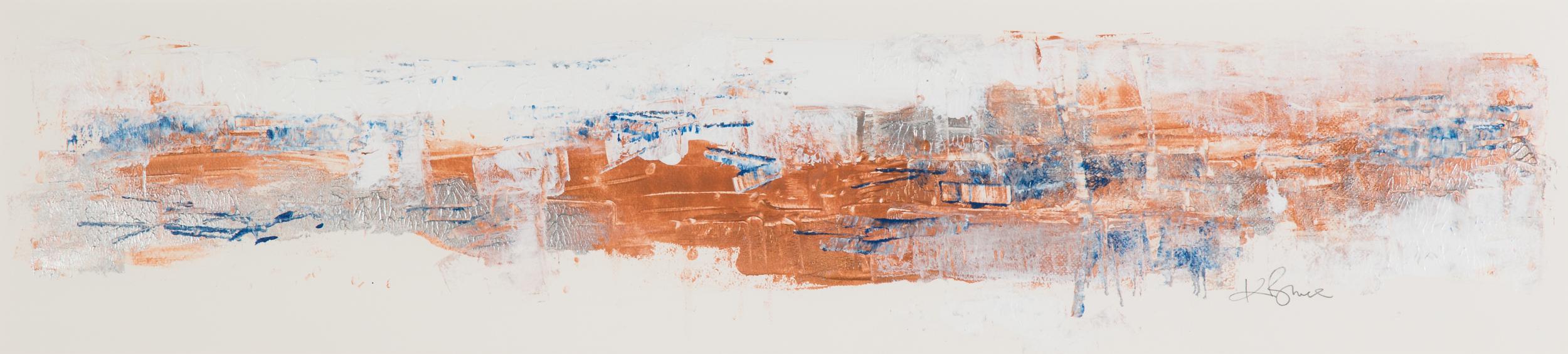 KB-062, Katharine Bruce, Sand Strolling, Acrylic on Paper, 2015, 44 x 9, $2,250