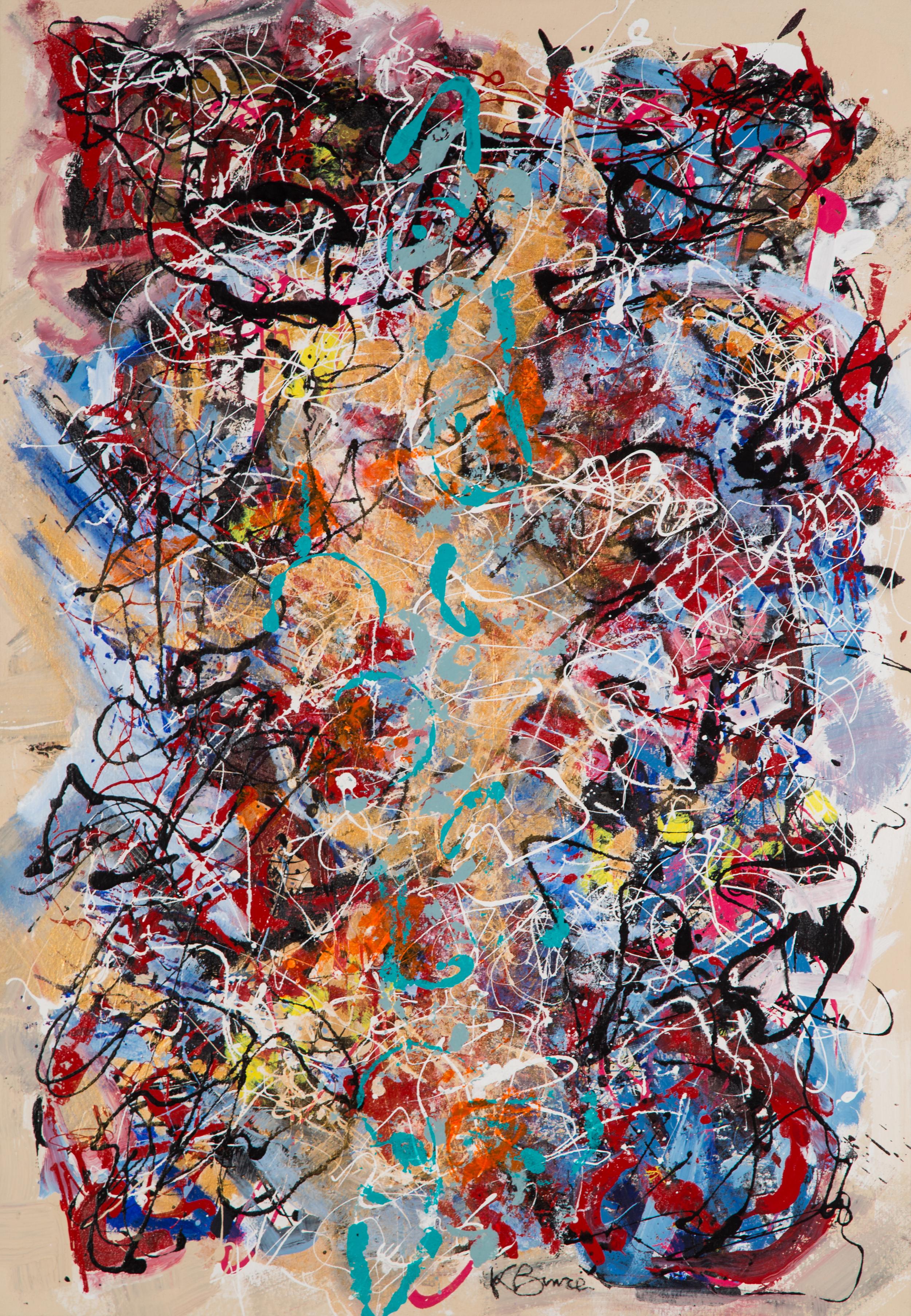 KB-071, Katharine Bruce, Tidepool Swagger, 2011, Acrylic on Canvas, 34.25x49.75, $3,250