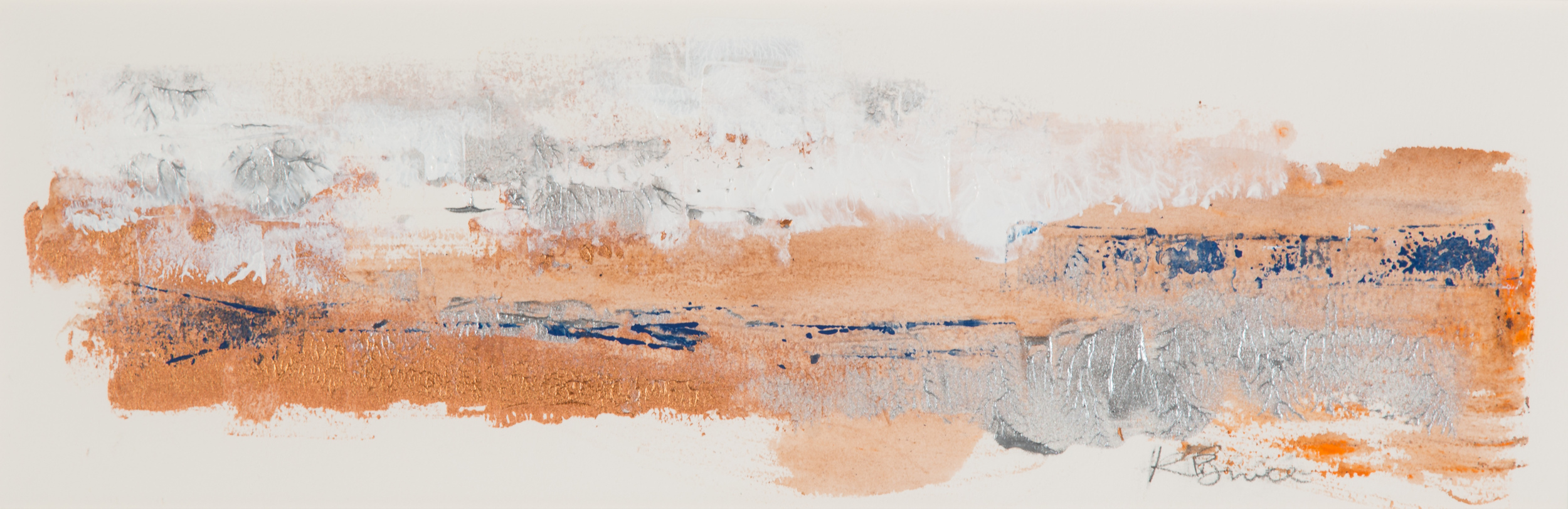 KB-074, Katharine Bruce, Changing Seasons 1, 2015, Acrylic on Paper, 22x7, $1,200