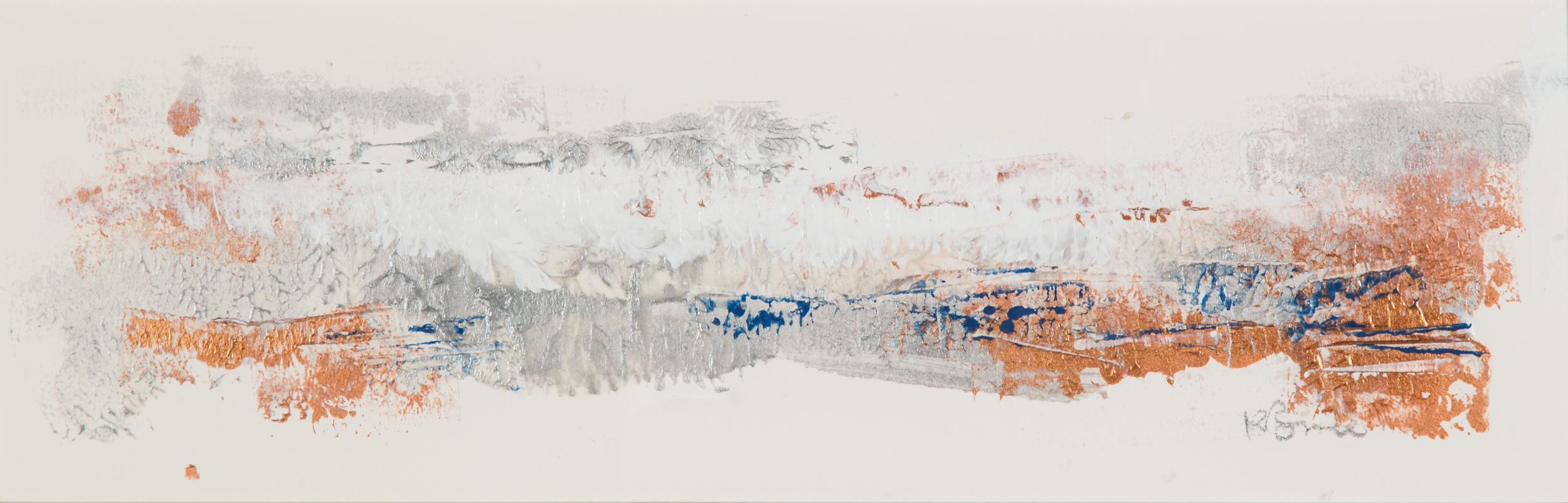 KB-075, Katharine Bruce, Changing Seasons II, 2015, Acrylic on Paper, 2015, 22x7, $1,200