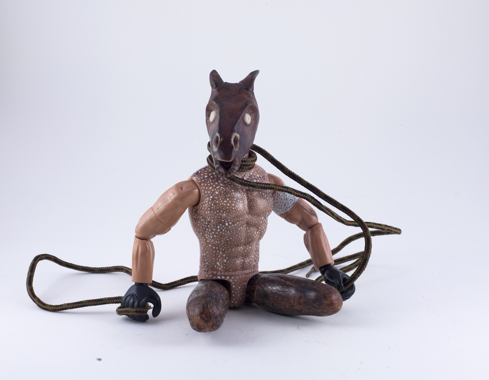 DT-072, Horse-face Birdman with Rope, 2015, SOLD