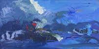 LJ-013, Nightscape, 15 x 30, 2015, $1,400