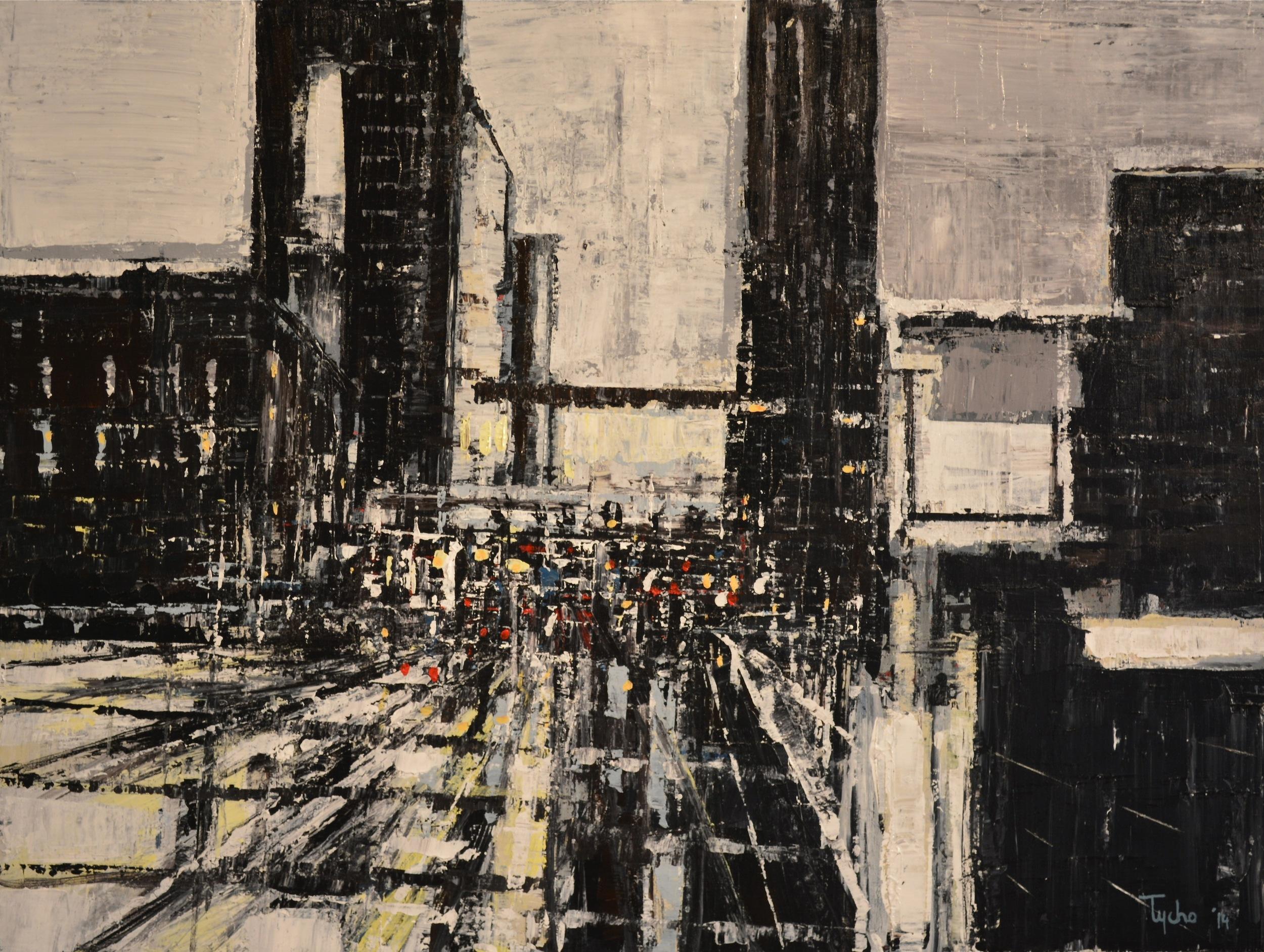 DTY-008,Urban Rhapsody #12, 30 x 40,2014,$3800