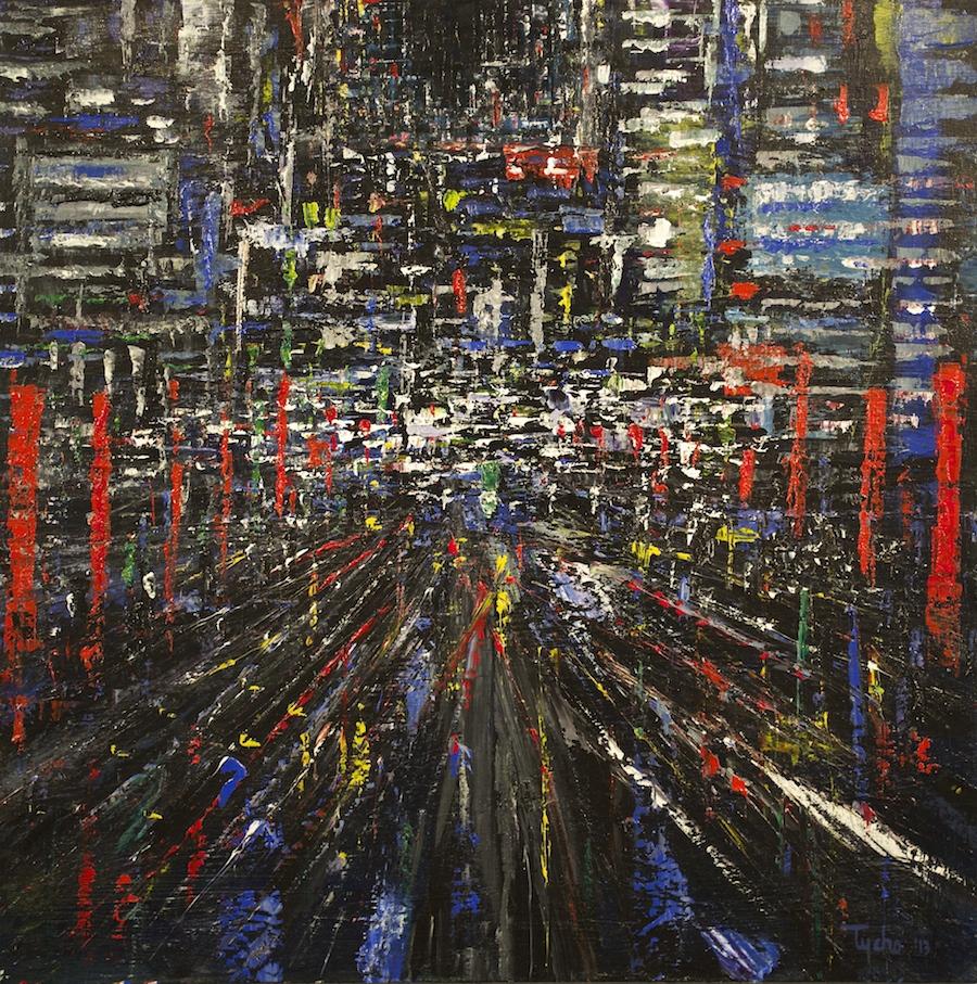 DTY-003, Urban Rhythms #1,36 x 36,2013,$3800