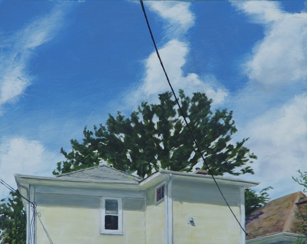 RS-182, Yellow House, oil on canvas, 2015, 30x24, $1,400
