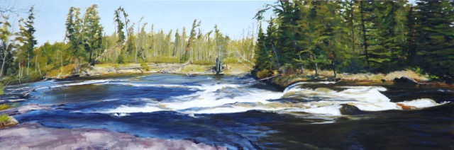 RS-184, Pine point, oil on canvas, 2015, 72x24, $2,400