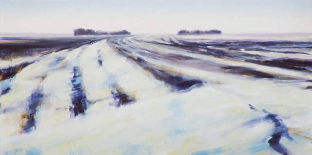 RS-190, The Road South, oil on canvas, 2015, 36x72, $3,250