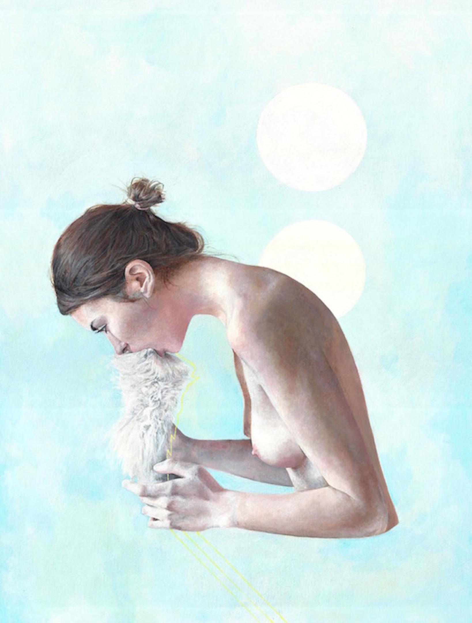 GF-008 I am Choking, 2015, acrylic on paper, 19.25x25.25, $2000