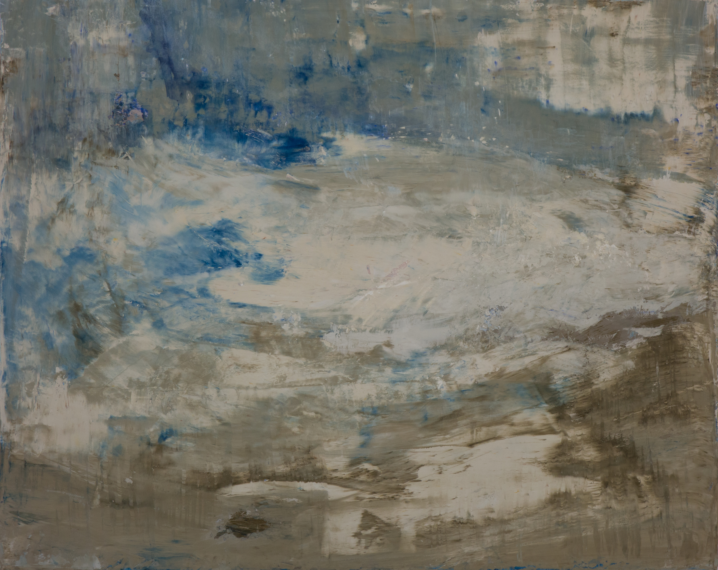SV-047, Shelley Vanderbyl, Pareidolia 1, 2016, Fresco on Panel,48x60