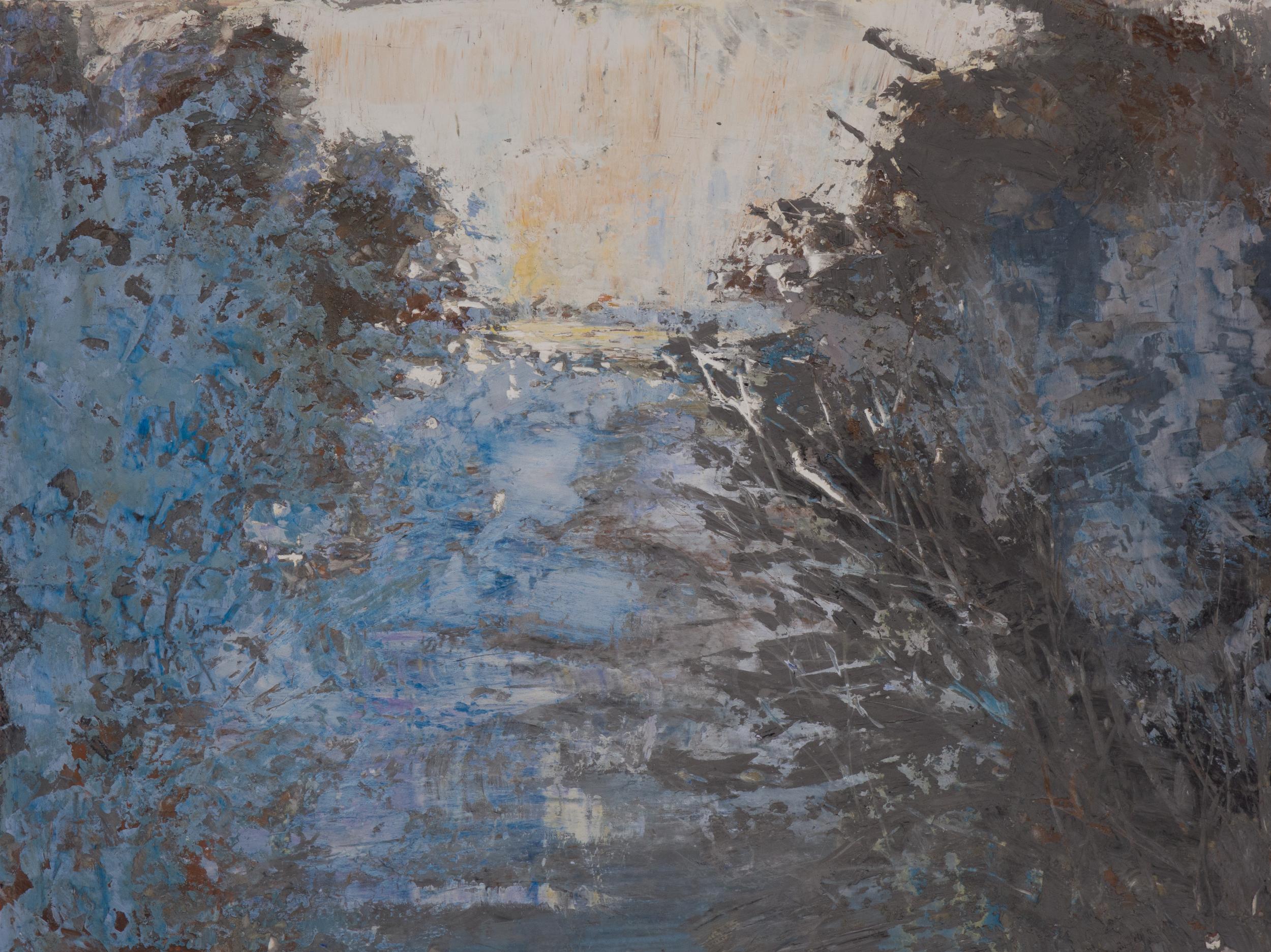 SV-052, Shelley Vanderbyl, Breaking Branches, 2016,Fresco on Panel,30x40