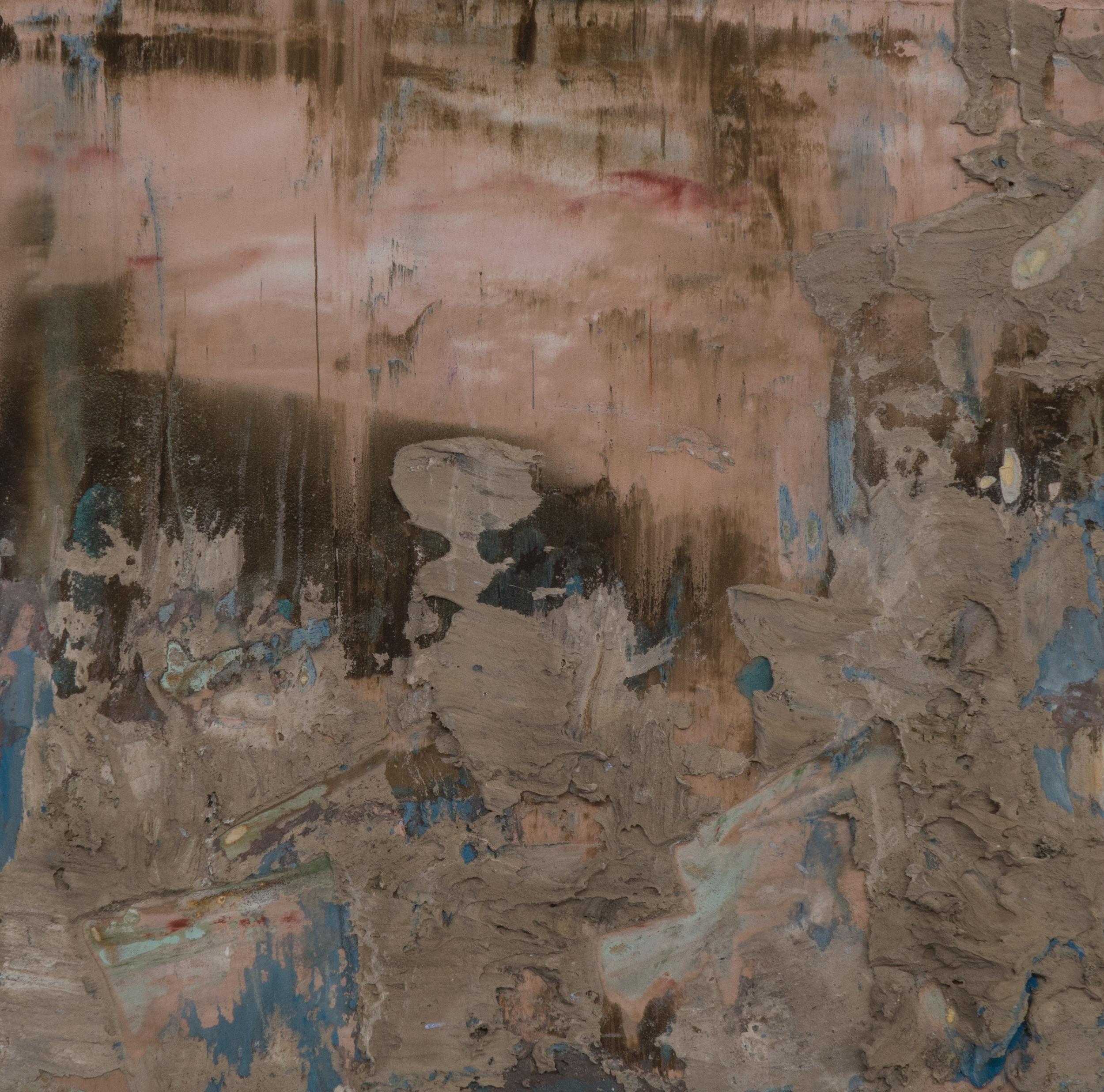 SV-054, Shelley Vanderbyl,Depth, 2016, Fresco on Panel,8x8
