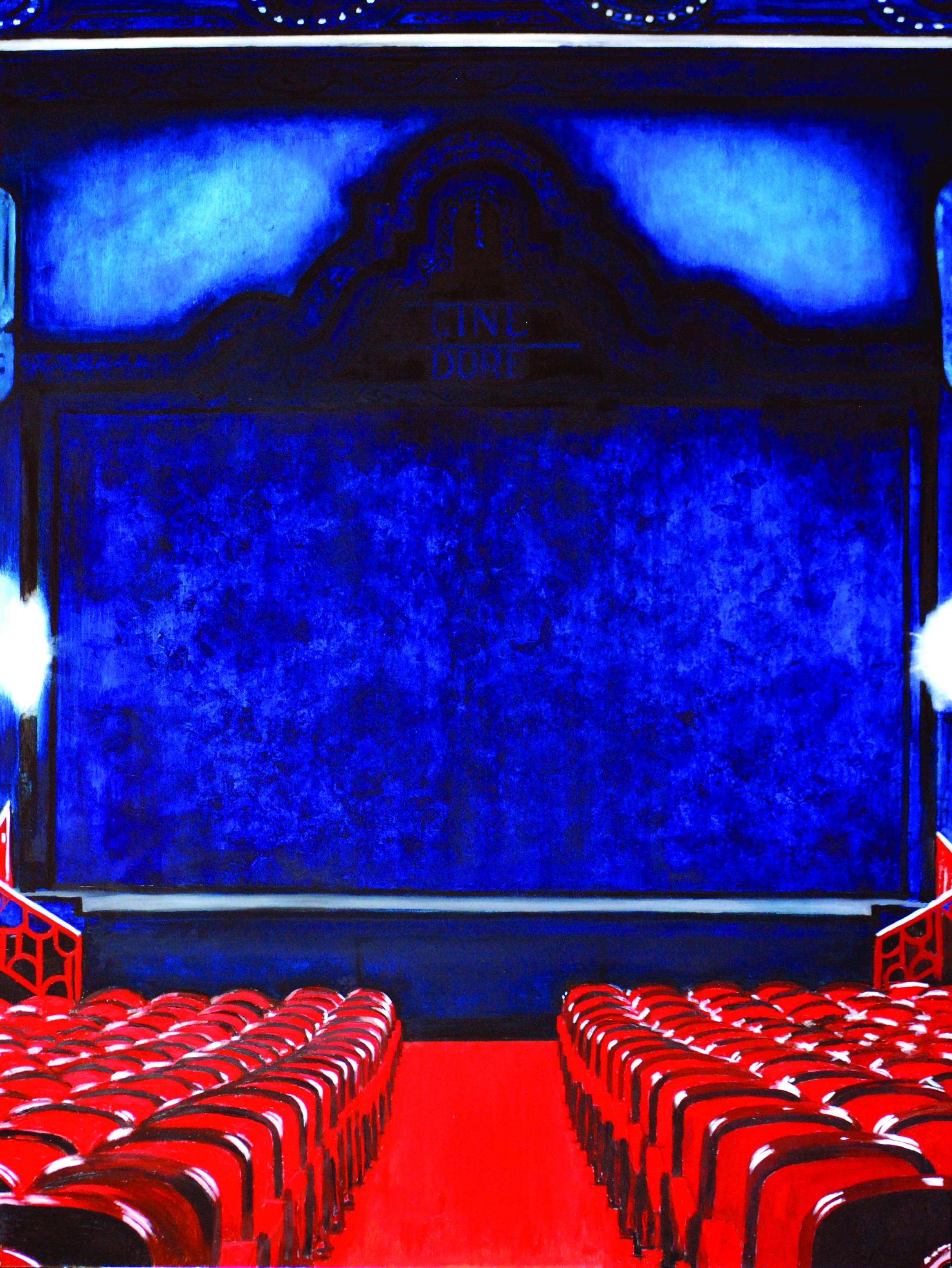 KS-052, Kae Sasaki, CineDore, 2015, Oil on Silverleafed Panel, 36X48