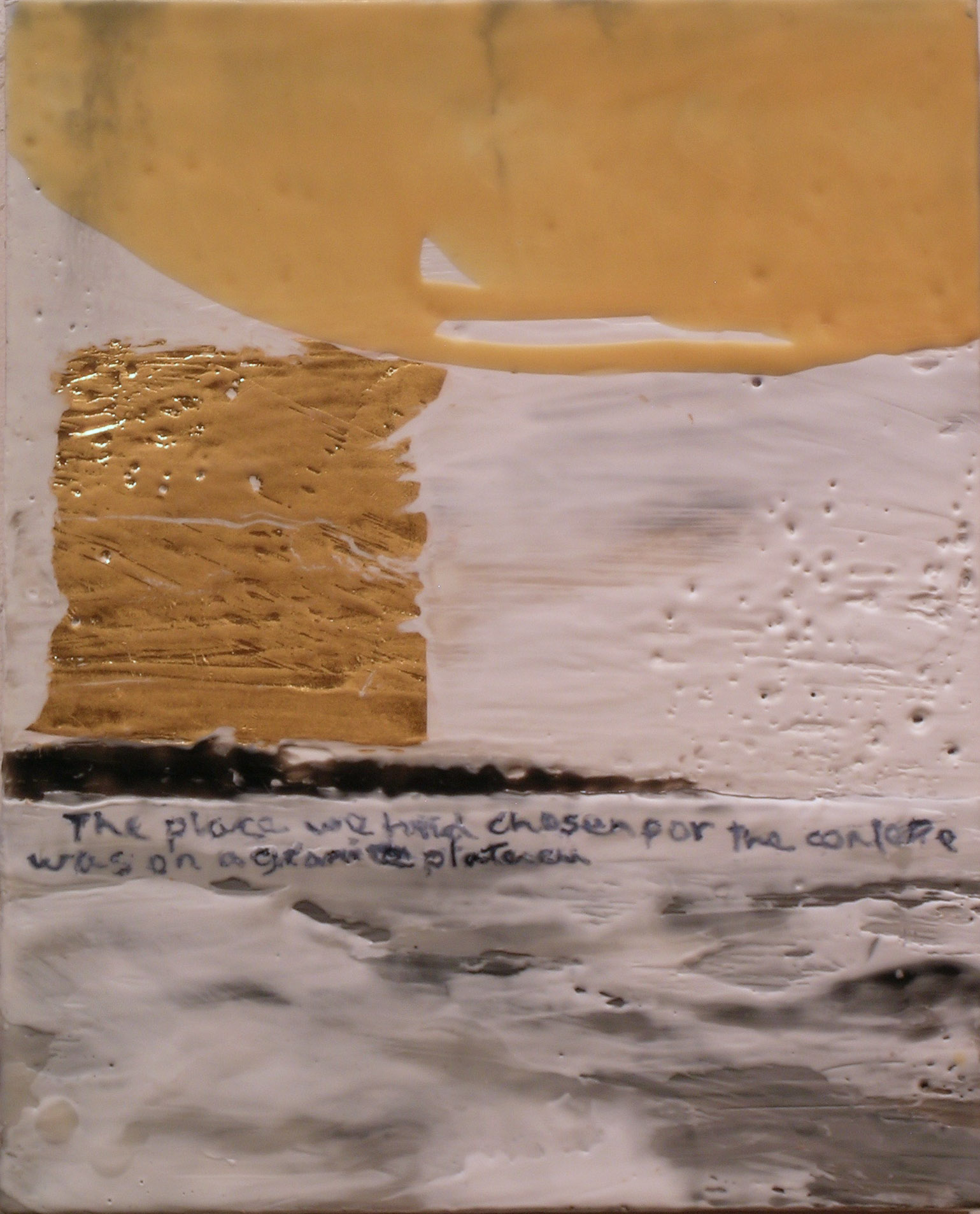 TS-073, The place we had chosen for the conference was on a granite plateau, 2016, mixed media, encaustic, 10x8.jpg