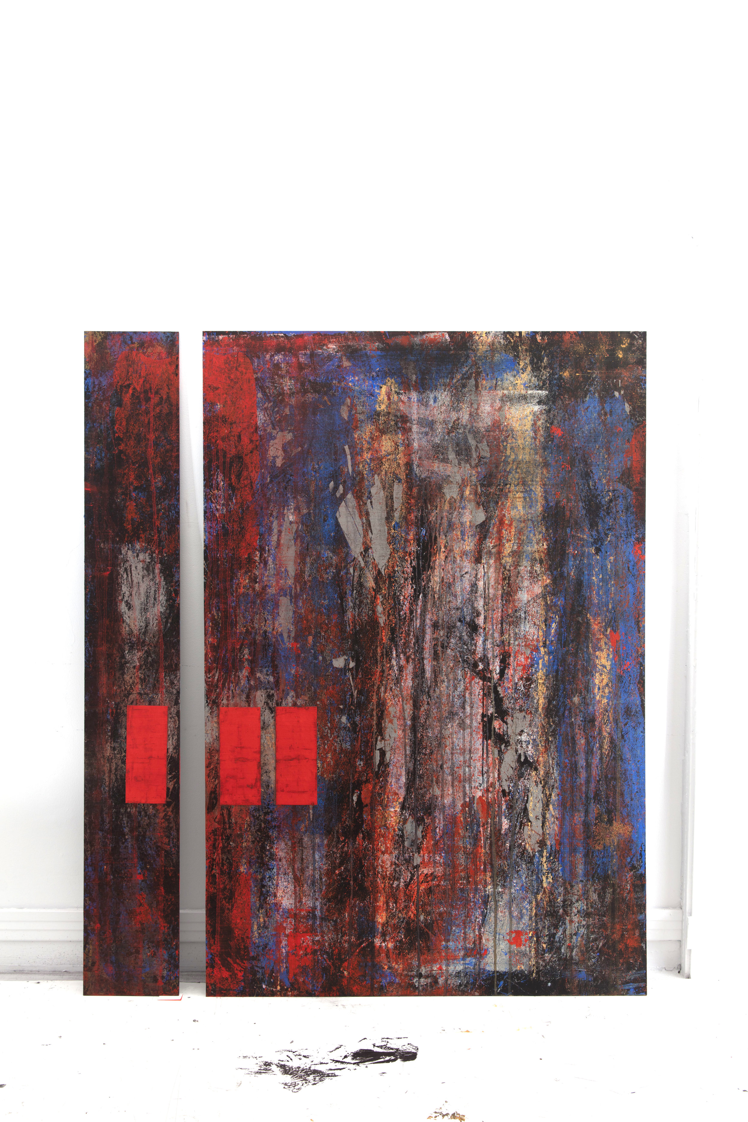 ED-060, Distraction (Diptych), Mixed Media on Panel, 2016		.jpg