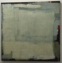 Shelter (Find Peace), 2015, encaustic on birch panel, 36x36.