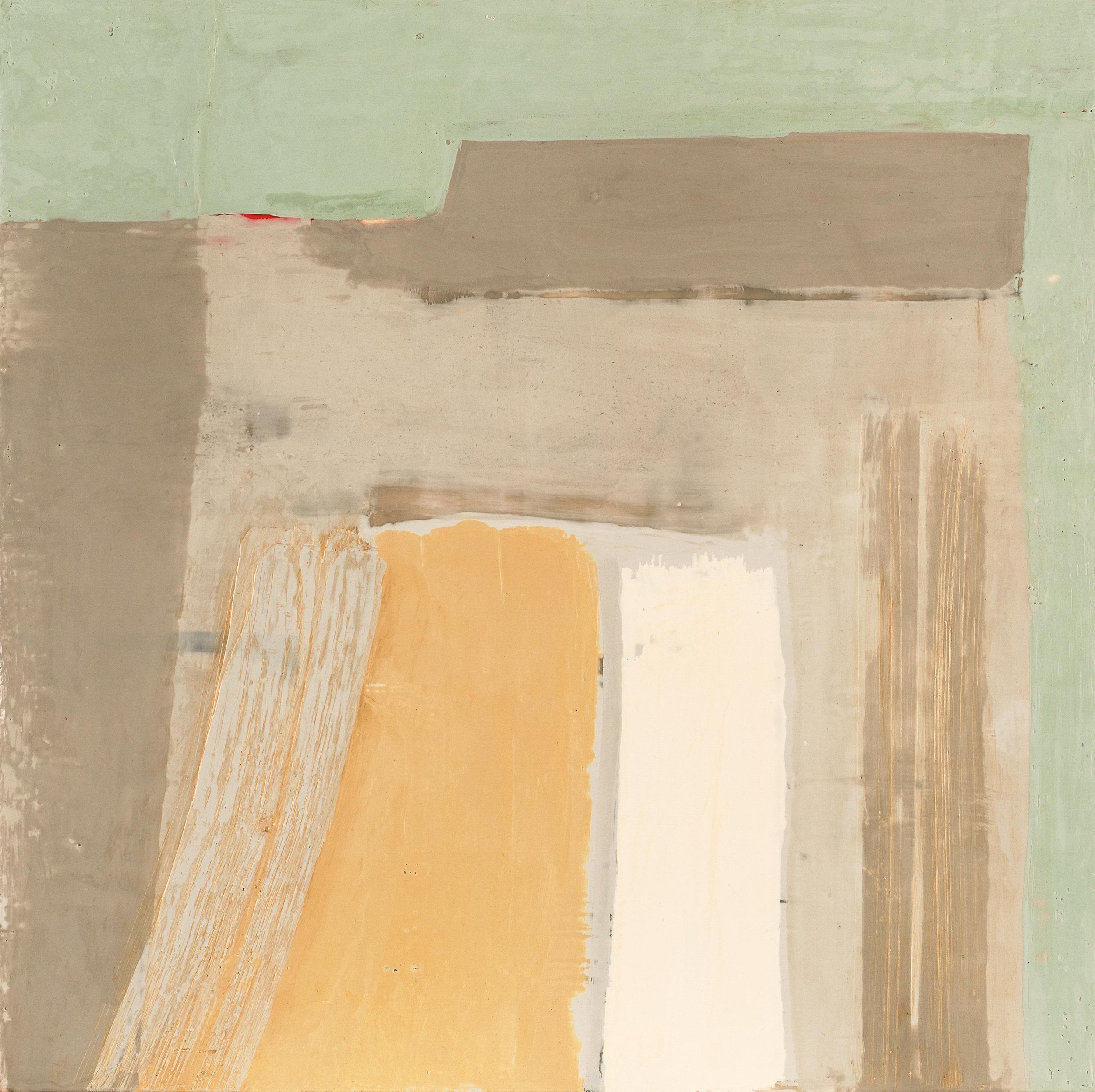 Untitled 3, Encaustic on Birch Panel, 18x18, 2016