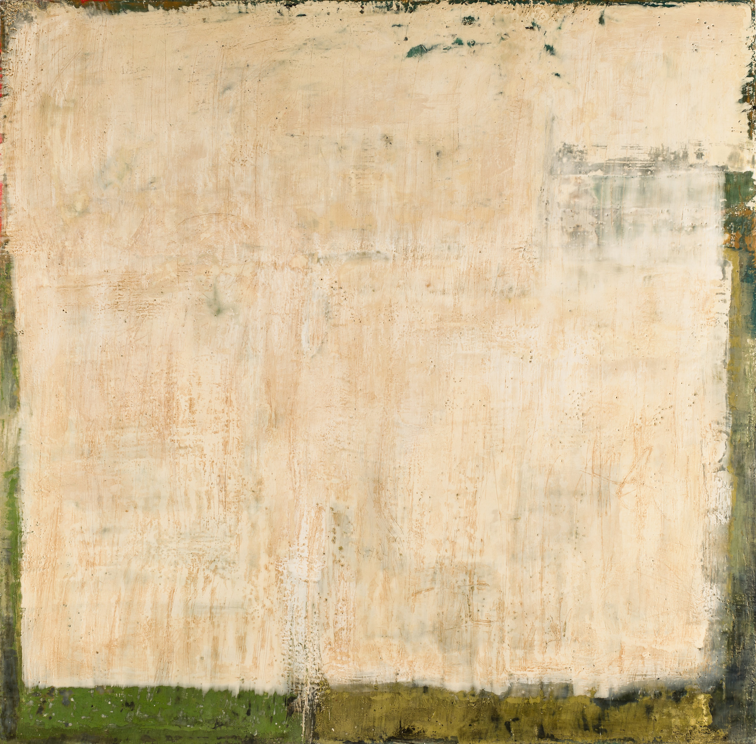 Sue Gordon, Returning Soon, Encaustic on Birch Panel, 40x40, 2016