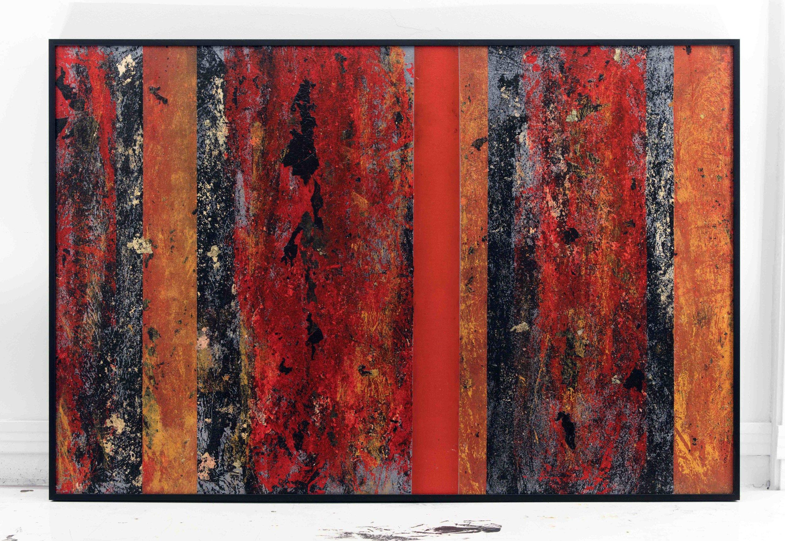 EB-056, Gridlock II, Mixed Media on Panel, 2016, 32 x 48.jpg