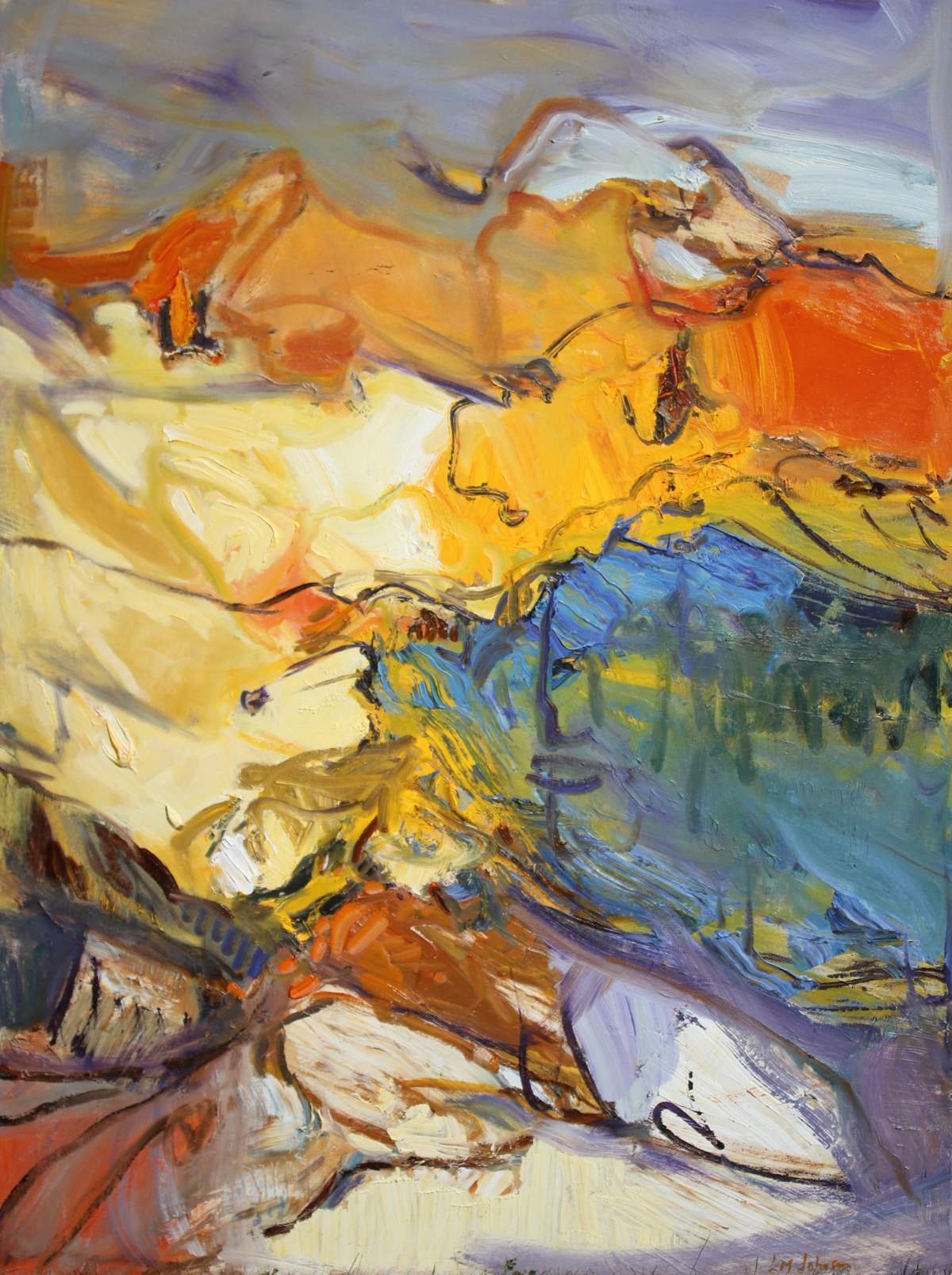 "LJ-028, Sojourn, 2016, Oil on Canvas, 48"" x 36"""