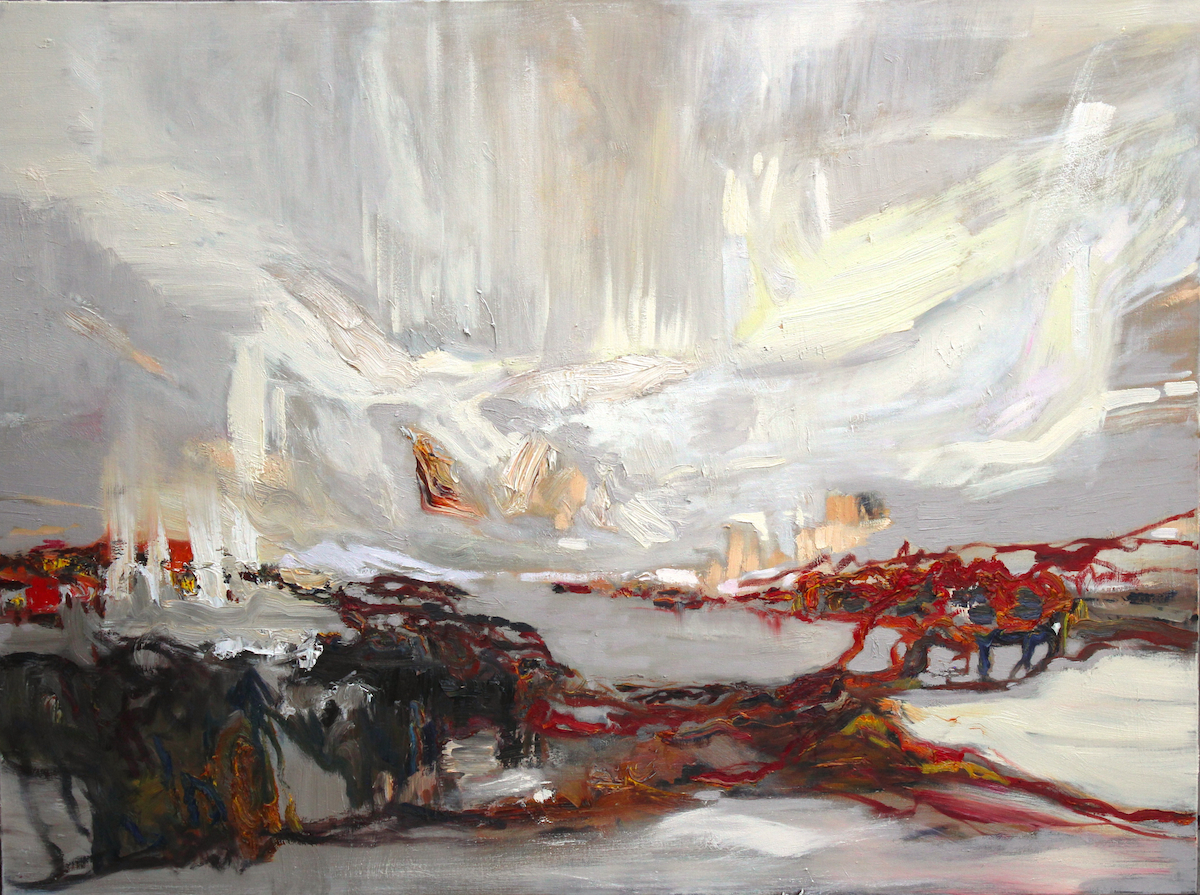 """LJ-029,Traces, Iceland,2016,Oil on Canvas,16"""" x 40"""""""