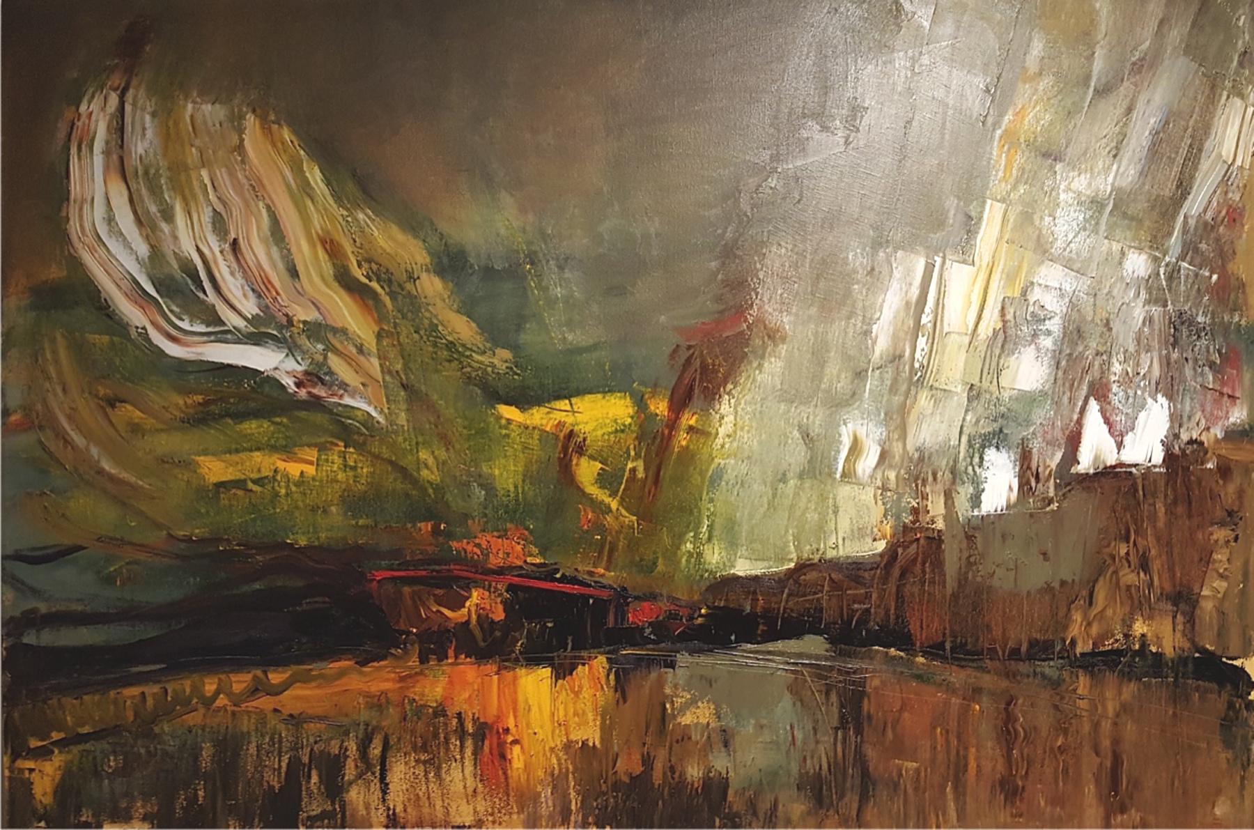 "LJ-033,Rise,2016,Oil on Canvas,24"" x 36"""