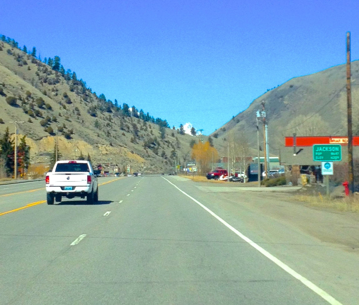 Heading north on Hwy 89 into Jackson