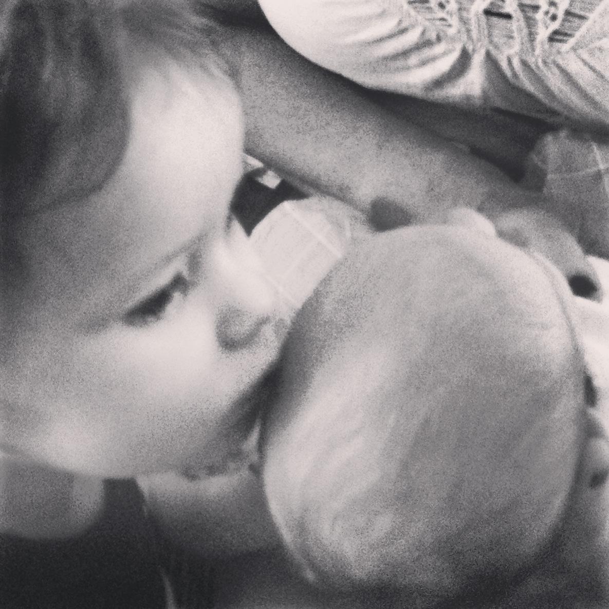 Hudson soft head kiss for Emilie