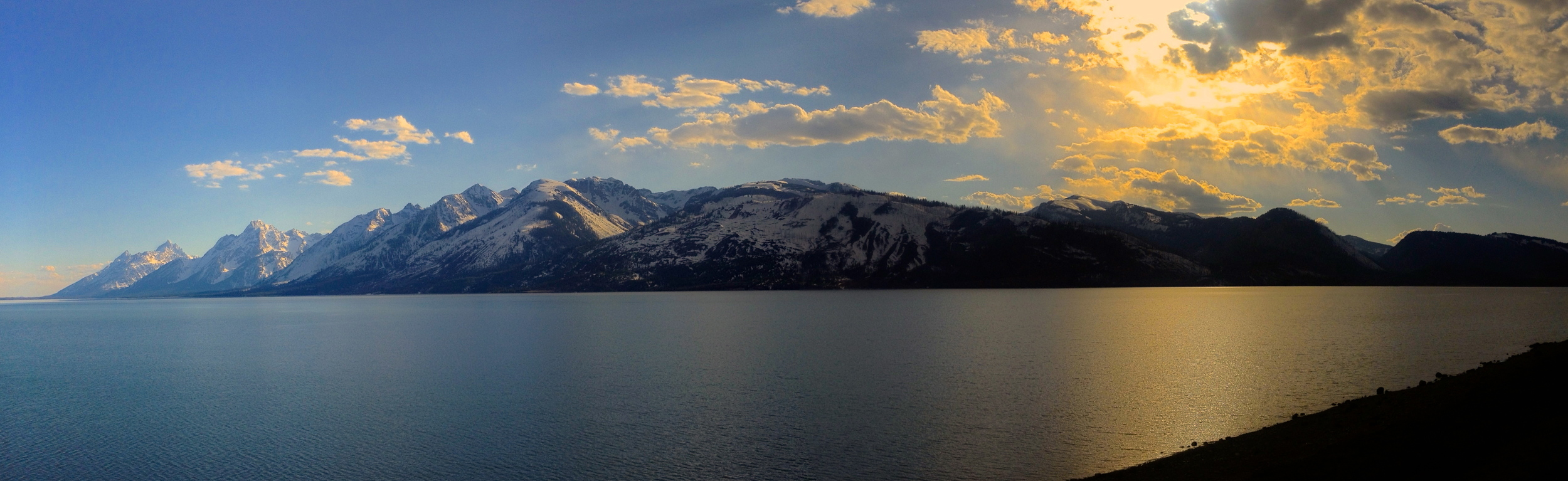 Sunset on Jackson Lake
