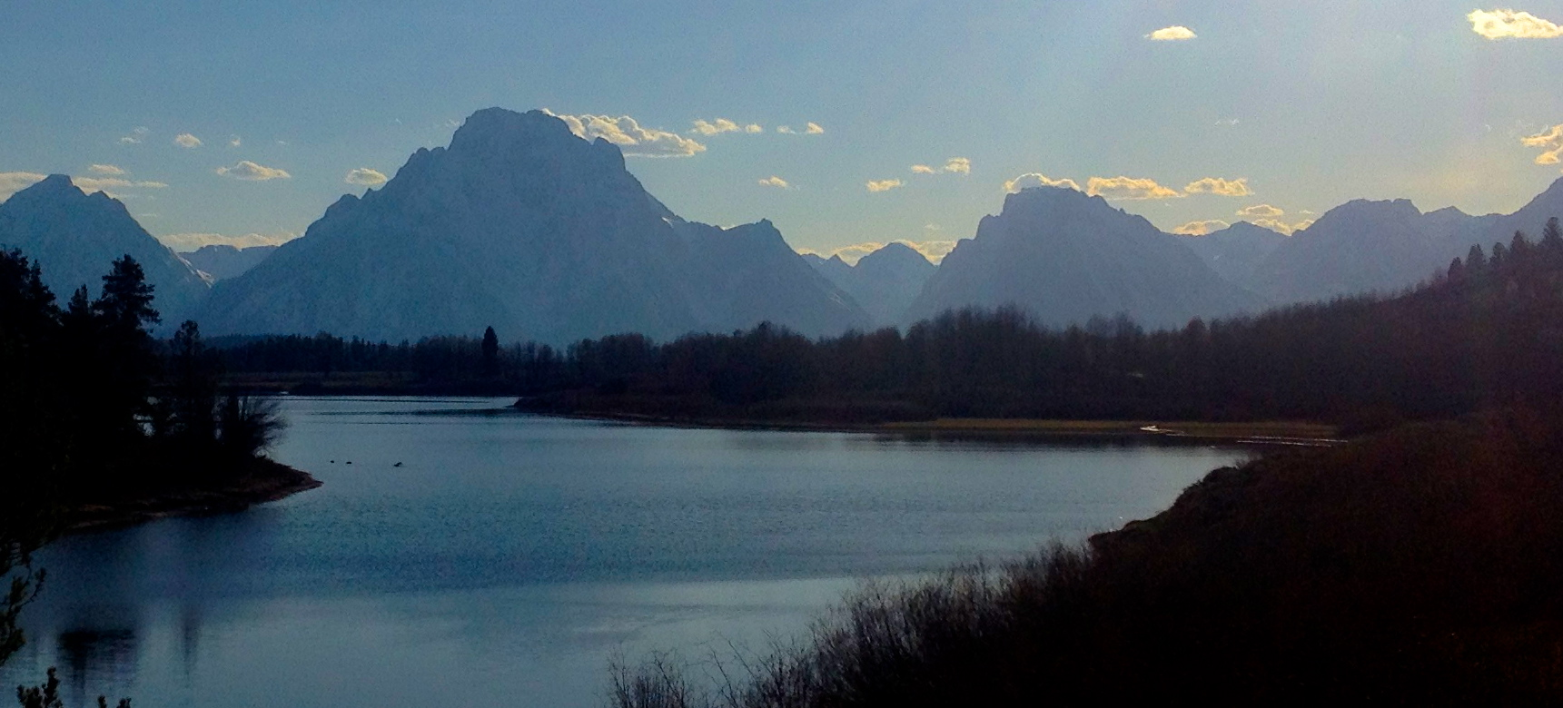Sunset on Oxbow Bend, Grand Teton National Park