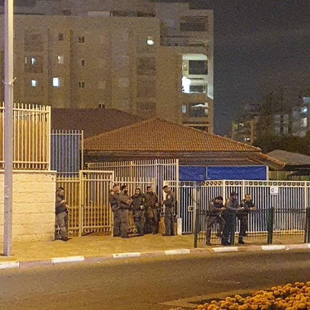 "This is only part of the police force deployed to Goren square. These are ""Yasam"", they are usually deployed to arrest violent offenders. This is the police force that was deployed to secure the AG against peaceful protesters."