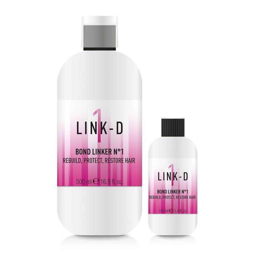 BOND LINKER Nº1 - is an innovative professional hair treatment, which, added to the chemical service mix, creates new disulphide bridges, while protecting the hair fibres at the same time. This is a precious ally for protecting the hair structure from stress brought about by any chemical hair treatment.