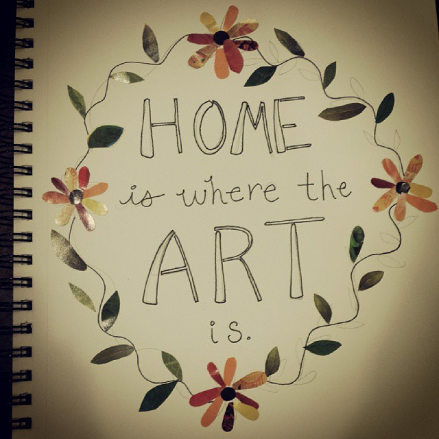 So much traveling is hard on my spirit and sense of place. Today I invested in a new journal to carry with me. #homeiswheretheARTis