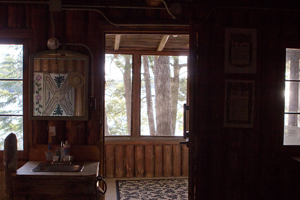 Jayme and Khue woke here in this cabin overlooking the Rainy Lake.