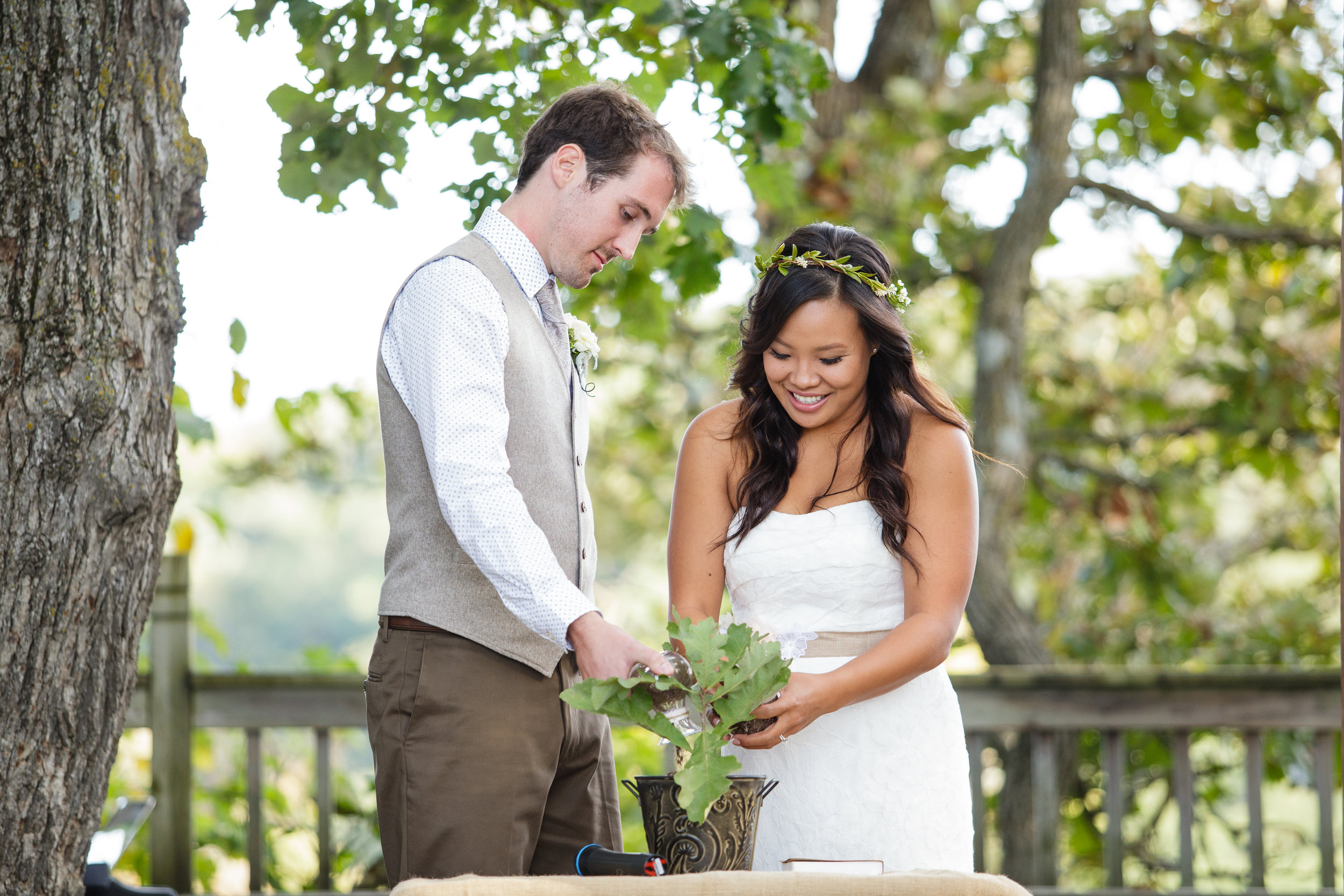 Facing the audience for your unity ceremony allows the photographer capture your expressions.