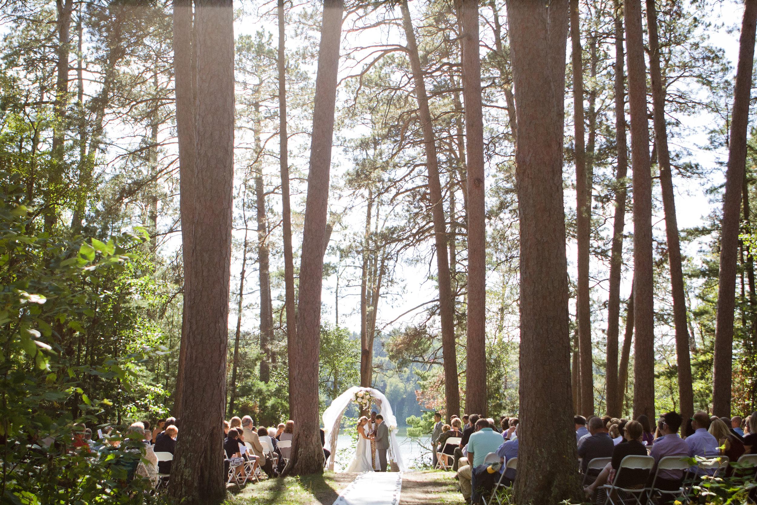 Ceremony site in Itasca State Park, Minnesota.