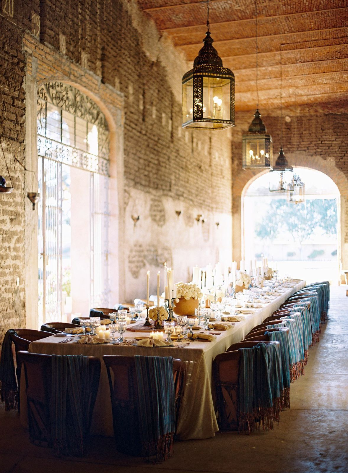 Dinner was held in the hacienda's, now abandoned, sugarcane storage room.