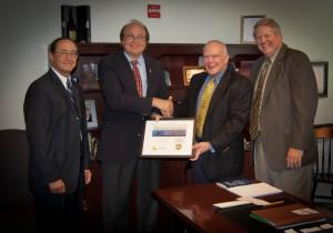 From Left: BB&T Northern Virginia President Don Strehle, BB&T Senior Vice President John P. Salop, Aurora Board Member Jim Zumwalt, and Aurora President Tom DeWitt